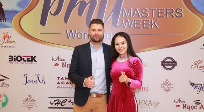 Hoa hậu Jully Trang Lê đến Hà Nội tham gia khóa học nâng cao ki năng cùng chuyên gia nước ngoài.