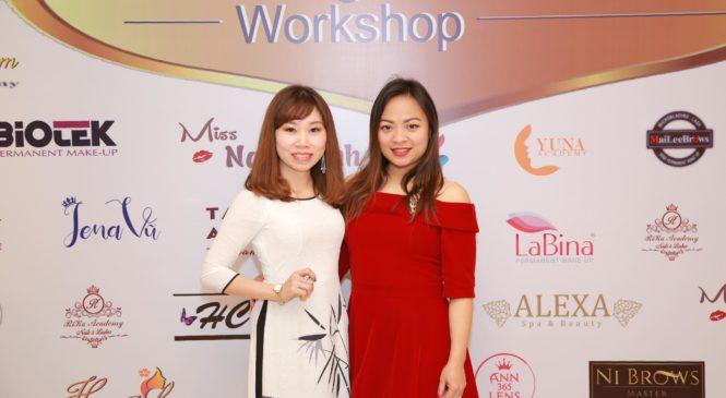 Nguyễn Thị Hương – CEO thương hiệu mỹ phẩm Lưu Hương tham gia chương trình workshop nâng cao kỹ năng trong lĩnh vực phun xăm thẩm mỹ cùng chuyên gia nước ngoài.
