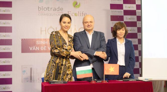 Hoa hậu tài năng Trang Lê đồng hành cùng thương hiệu dược mỹ phẩm Biotrade.