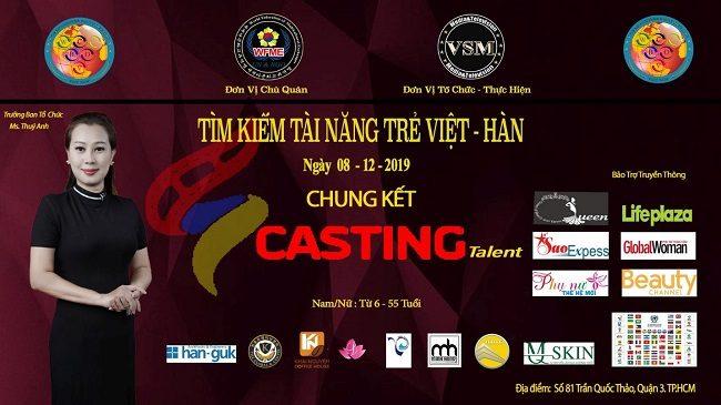 Khởi động chung kết casting chương trình Tìm Kiếm Tài Năng Trẻ Việt – Hàn