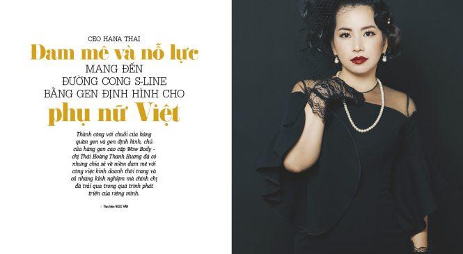 CEO HANA THÁi – Đam mê và nỗ lực mang đến đường cong  S-LINE bằng gen định hình cho phụ nữ Việt